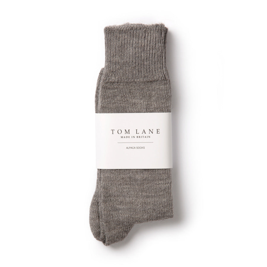 Tom Lane British Alpaca Everyday Socks Grey
