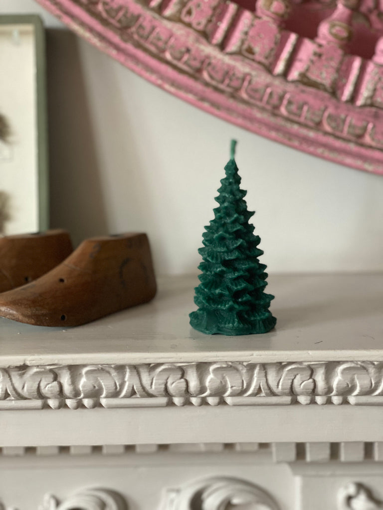 Pure Beeswax Little Christmas Tree - Green
