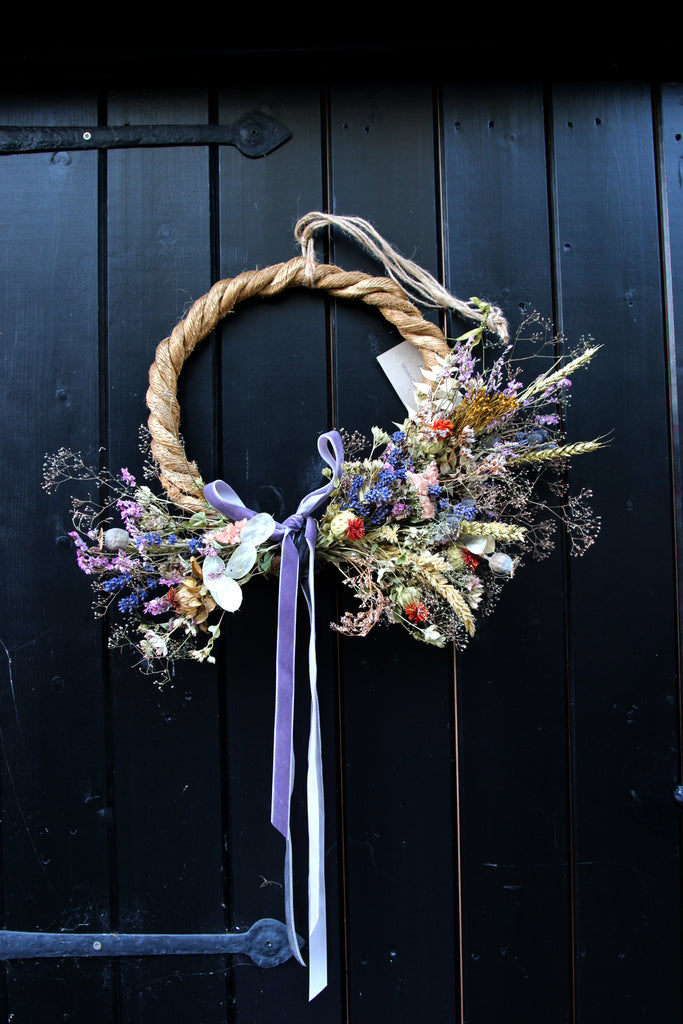 Everlasting Dried Flower Wreath - Late Summer