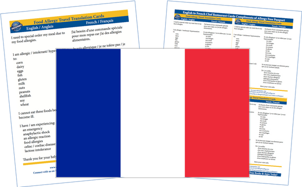 GlutenFree Passport Allergy Free Cards French / English Food Allergy Cards