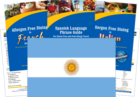 GlutenFree Passport Allergy Free Travel Paks Argentina Food Allergy Travel Kit