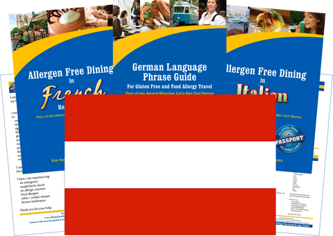 GlutenFree Passport Allergy Free Travel Paks Austria Food Allergy Travel Kit