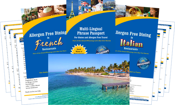 GlutenFree Passport Allergy Free Travel Paks Caribbean Food Allergy Travel Bundle