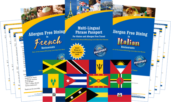 GlutenFree Passport Allergy Free Travel Paks Caribbean Food Allergy Travel Kit