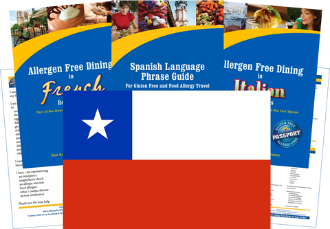 GlutenFree Passport Allergy Free Travel Paks Chile Food Allergy Travel Kit