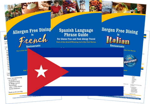GlutenFree Passport Allergy Free Travel Paks Cuba Food Allergy Travel Kit