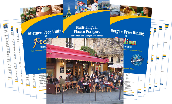 GlutenFree Passport Allergy Free Travel Paks Europe Food Allergy Travel Bundle
