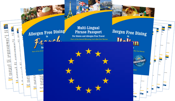 GlutenFree Passport Allergy Free Travel Paks Europe Food Allergy Travel Kit