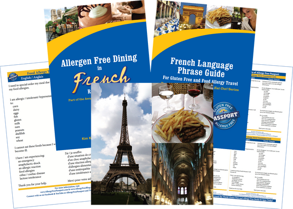 GlutenFree Passport Allergy Free Travel Paks France Food Allergy Travel Bundle