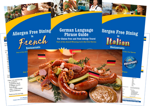 GlutenFree Passport Allergy Free Travel Paks Germany Food Allergy Travel Bundle