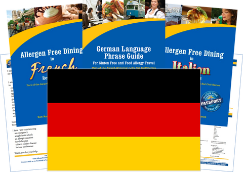 GlutenFree Passport Allergy Free Travel Paks Germany Food Allergy Travel Kit