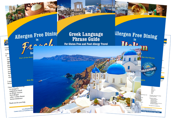 GlutenFree Passport Allergy Free Travel Paks Greece Food Allergy Travel Bundle