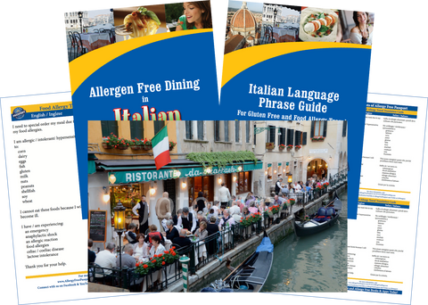 GlutenFree Passport Allergy Free Travel Paks Italy Food Allergy Travel Bundle