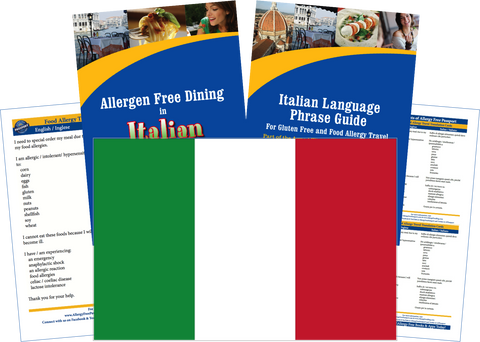 GlutenFree Passport Allergy Free Travel Paks Italy Food Allergy Travel Kit