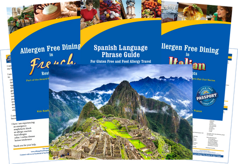 GlutenFree Passport Allergy Free Travel Paks Peru Food Allergy Travel Bundle