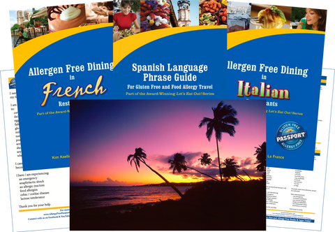 GlutenFree Passport Allergy Free Travel Paks Puerto Rico Food Allergy Travel Bundle