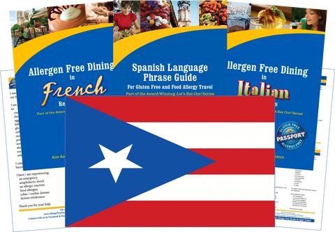 GlutenFree Passport Allergy Free Travel Paks Puerto Rico Food Allergy Travel Kit