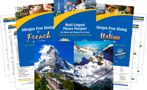 GlutenFree Passport Allergy Free Travel Paks Switzerland Food Allergy Travel Bundle