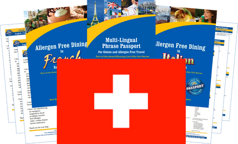 GlutenFree Passport Allergy Free Travel Paks Switzerland Food Allergy Travel Kit