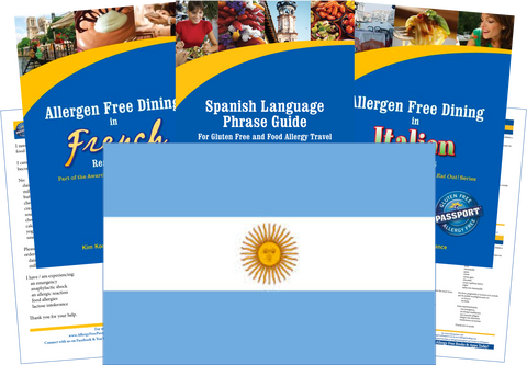 GlutenFree Passport Dairy Free Travel Paks Argentina Milk Allergy Travel Kit