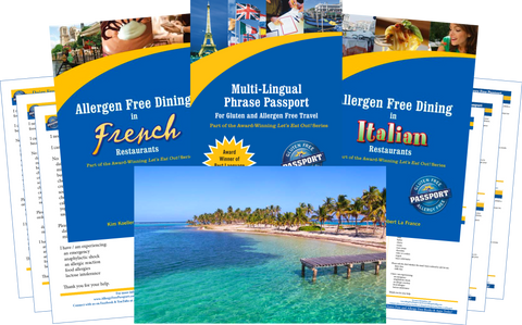 GlutenFree Passport Dairy Free Travel Paks Caribbean Milk Allergy Travel Bundle