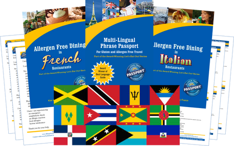 GlutenFree Passport Dairy Free Travel Paks Caribbean Milk Allergy Travel Kit