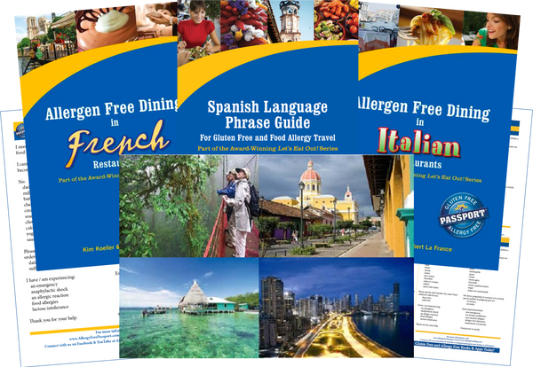 GlutenFree Passport Dairy Free Travel Paks Central America Milk Allergy Travel Bundle