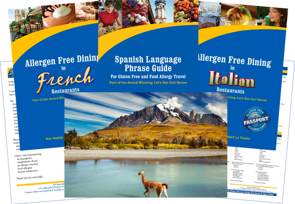 GlutenFree Passport Dairy Free Travel Paks Chile Milk Allergy Travel Bundle