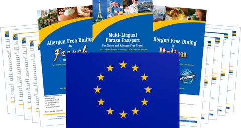 GlutenFree Passport Dairy Free Travel Paks Europe Milk Allergy Travel Kit