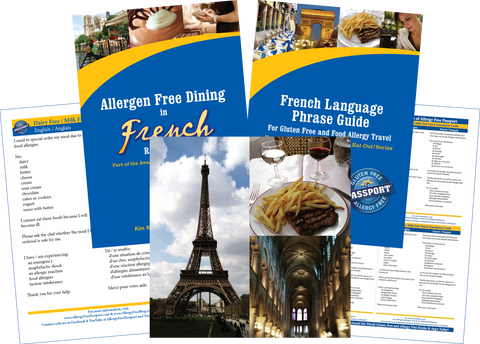 GlutenFree Passport Dairy Free Travel Paks France Milk Allergy Travel Bundle