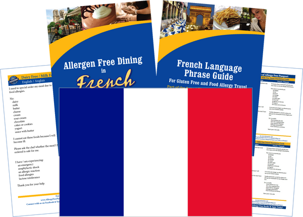 GlutenFree Passport Dairy Free Travel Paks France Milk Allergy Travel Kit