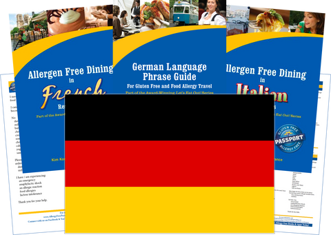 GlutenFree Passport Dairy Free Travel Paks Germany Milk Allergy Travel Kit