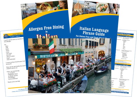 GlutenFree Passport Dairy Free Travel Paks Italy Milk Allergy Travel Bundle