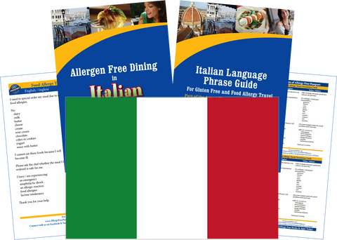 GlutenFree Passport Dairy Free Travel Paks Italy Milk Allergy Travel Kit