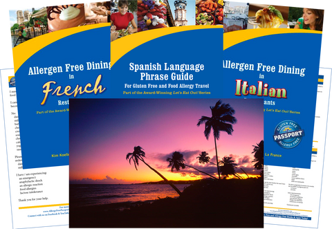 GlutenFree Passport Dairy Free Travel Paks Puerto Rico Milk Allergy Travel Bundle