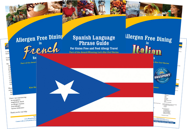 GlutenFree Passport Dairy Free Travel Paks Puerto Rico Milk Allergy Travel Kit