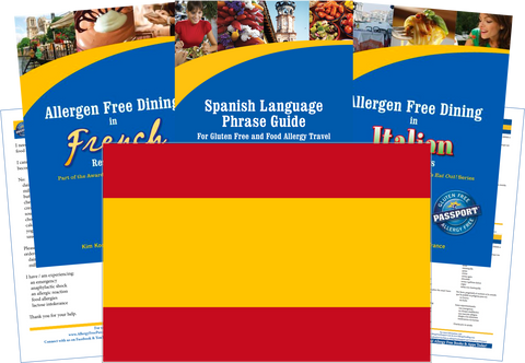 GlutenFree Passport Dairy Free Travel Paks Spain Milk Allergy Travel Kit
