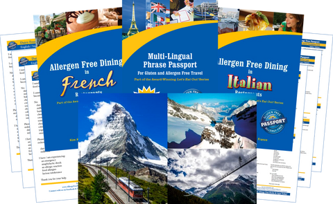 GlutenFree Passport Dairy Free Travel Paks Switzerland Milk Allergy Travel Bundle