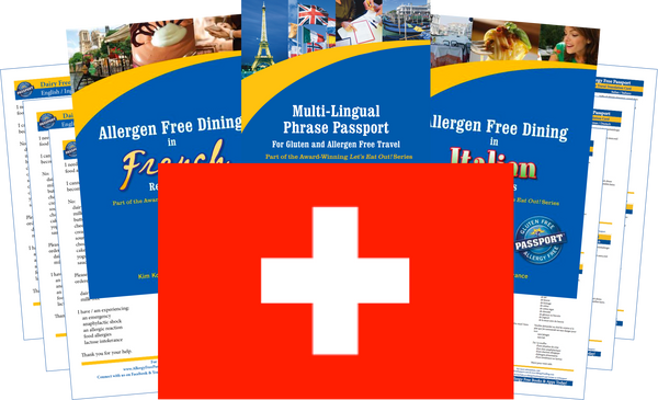 GlutenFree Passport Dairy Free Travel Paks Switzerland Milk Allergy Travel Kit