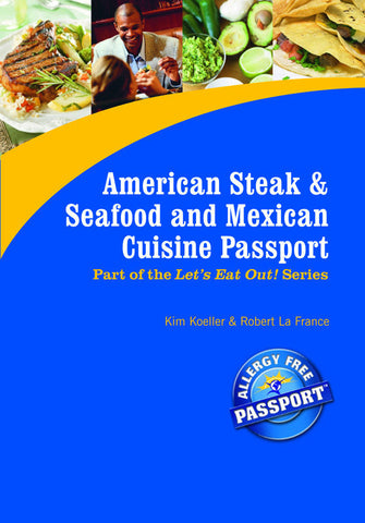 GlutenFree Passport GF AF Paperback Books American Steak & Mexican Restaurant Meals (PAPER PASSPORT)