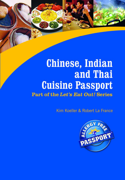 GlutenFree Passport GF AF Paperback Books Chinese, Indian & Thai Restaurant Meals (PAPER PASSPORT)