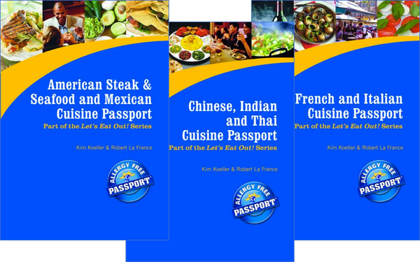 GlutenFree Passport GF AF Paperback Books Ethnic Restaurant Travel Pack (PAPER PASSPORTS)