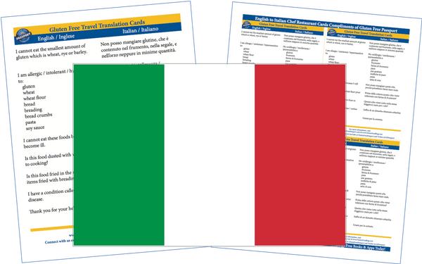 GlutenFree Passport Gluten Free Cards Italian / English Gluten Free Cards