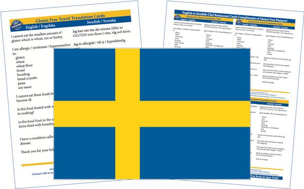 GlutenFree Passport Gluten Free Cards Swedish / English Gluten Free Cards
