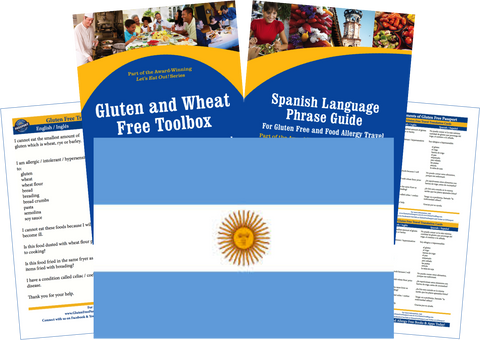 GlutenFree Passport Gluten Free Travel Paks Argentina Gluten Free Travel Kit