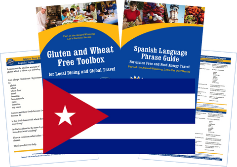 GlutenFree Passport Gluten Free Travel Paks Cuba Gluten Free Travel Kit