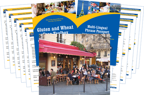 GlutenFree Passport Gluten Free Travel Paks Europe Gluten Free Travel Bundle