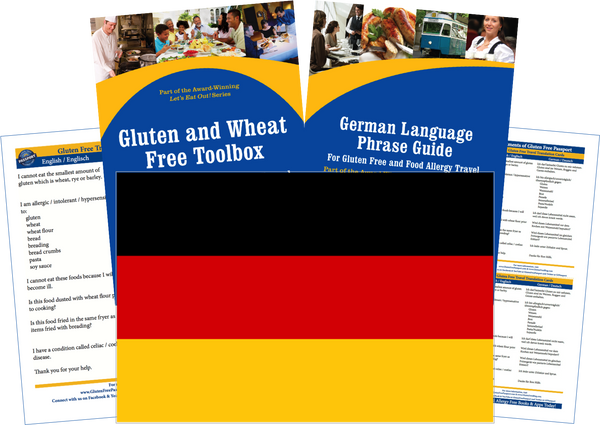 GlutenFree Passport Gluten Free Travel Paks Germany Gluten Free Travel Kit