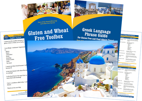 GlutenFree Passport Gluten Free Travel Paks Greece Gluten Free Travel Bundle