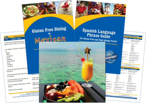 GlutenFree Passport Gluten Free Travel Paks Mexico Gluten Free Travel Bundle